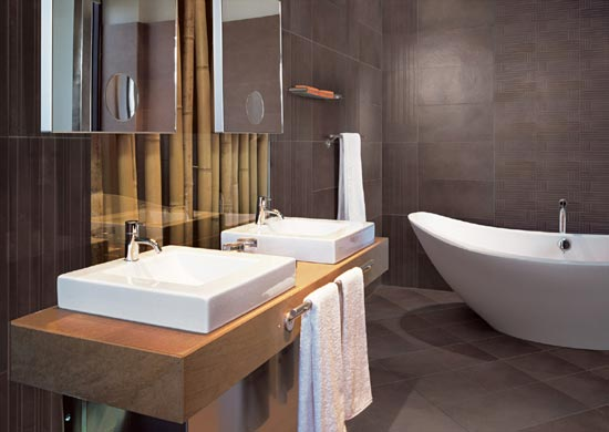 Cr ation de salle de bain - Photo petite salle de bain moderne ...